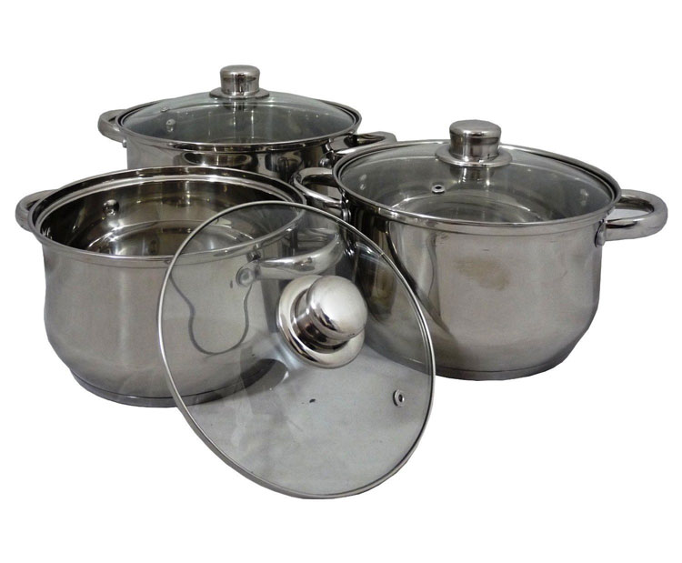 Stainless Steel Induction Pan Set