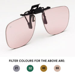 Clip on with Flip up style Anti-Glare Glasses