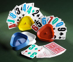 Easy To See Low Vision Colour Playing Cards With Card Holders