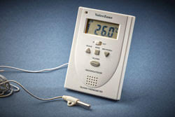 Talking Single Screen IN/OUT Thermometer